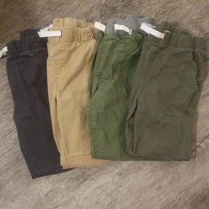 Cat & Jack boy 4 pack pull on pants